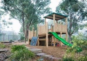 Eltham Woods Preschool wooden fort